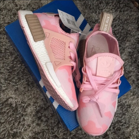 le adidas nuova scatola nmd rt w duck mimetico pack sz 5 signore